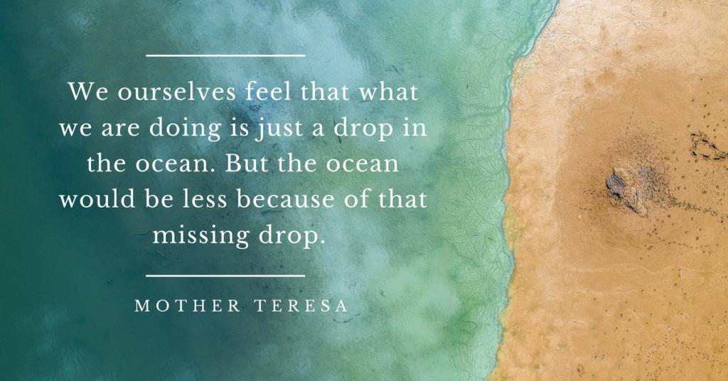 Mother Teresa volunteer quote