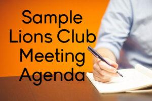 Lions-Club-Agenda