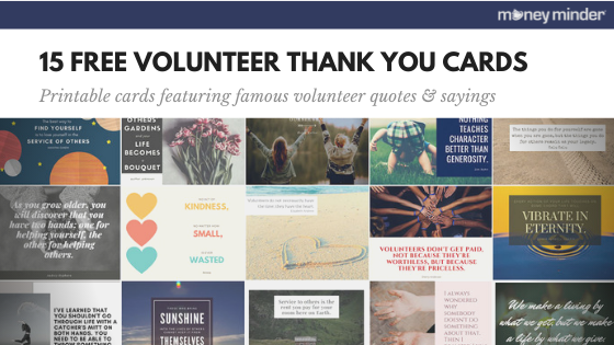 15 free volunteer thank you cards