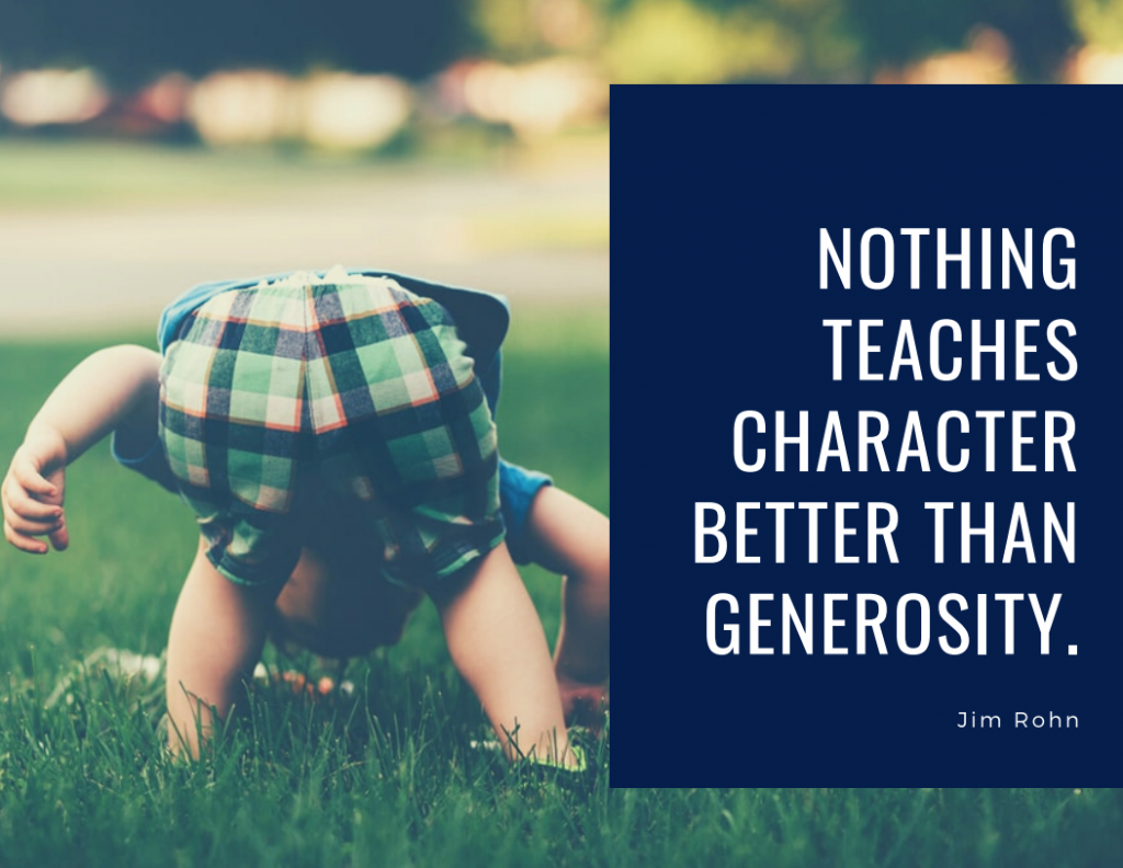 character and generosity