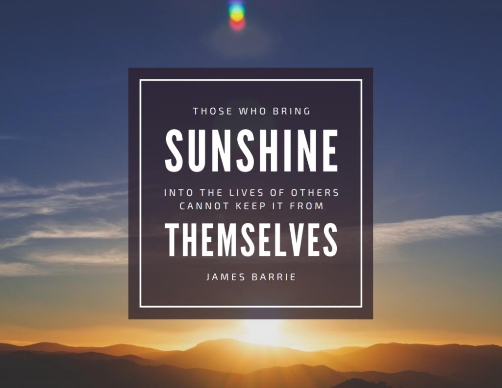 sunshine quote volunteers