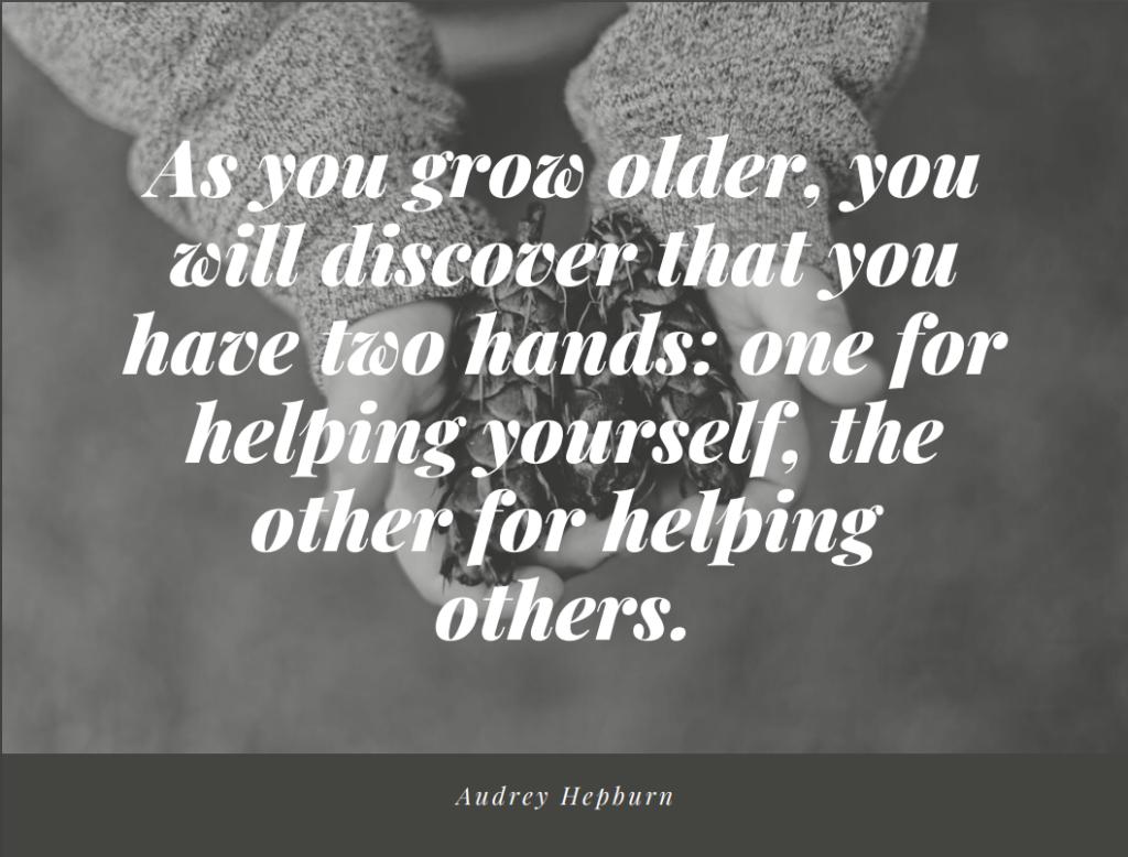 two hands volunteer quote