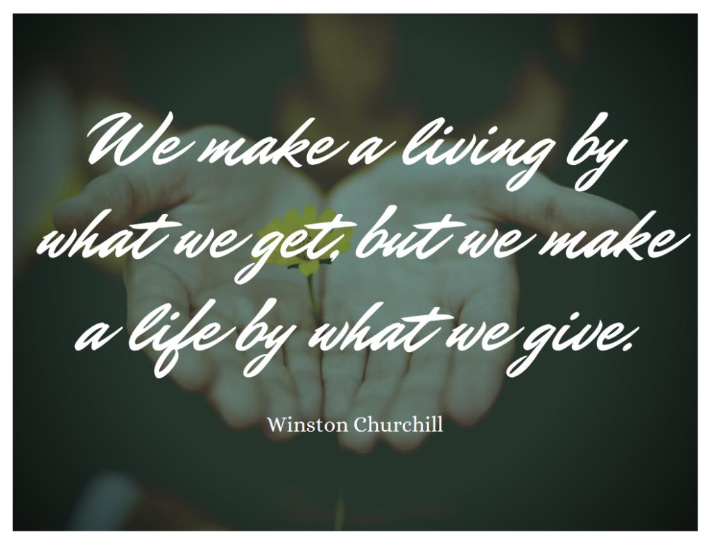 winston churchill giving quote