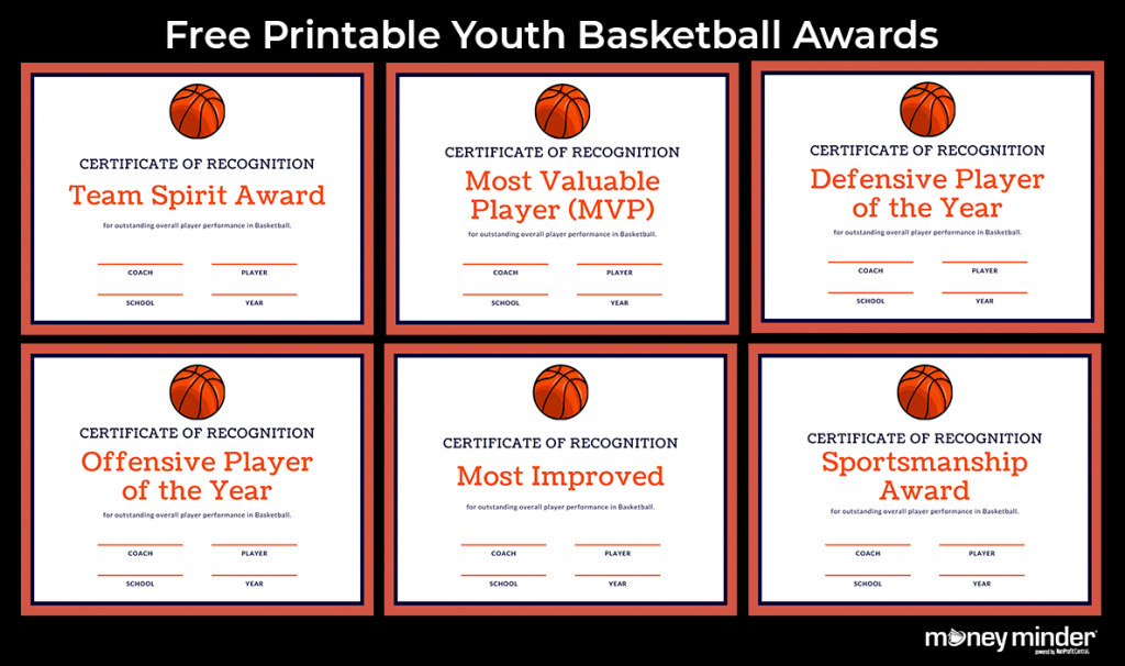 Basketball Youth Sports Awards