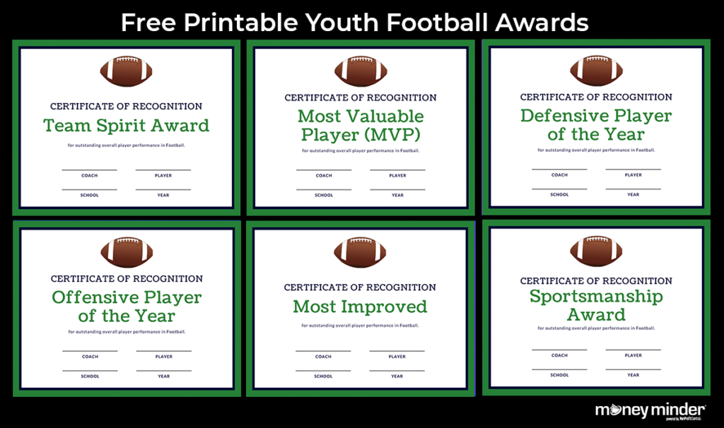 Football Youth Sports Awards
