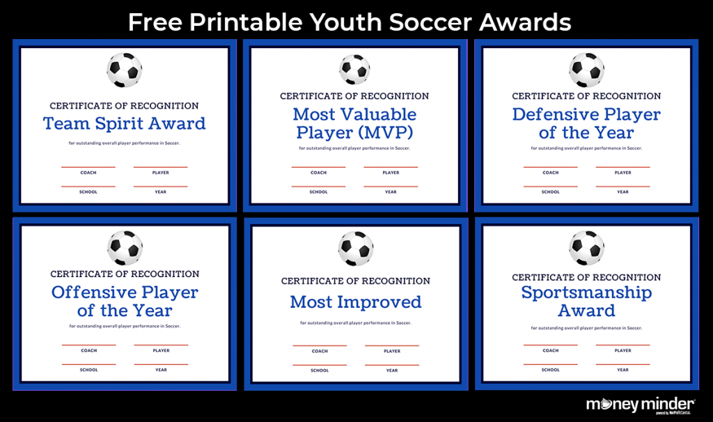 Soccer Youth Sports Awards