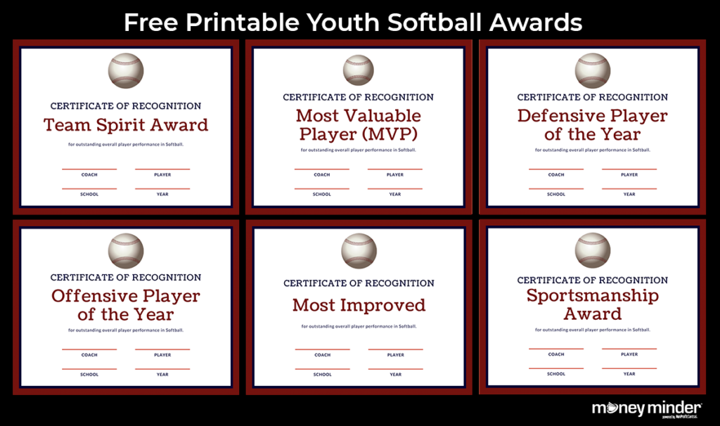 Softball Youth Sports Awards