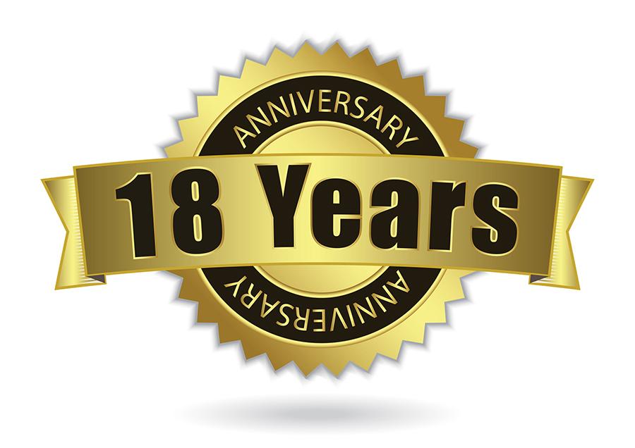 18 Year Anniversary