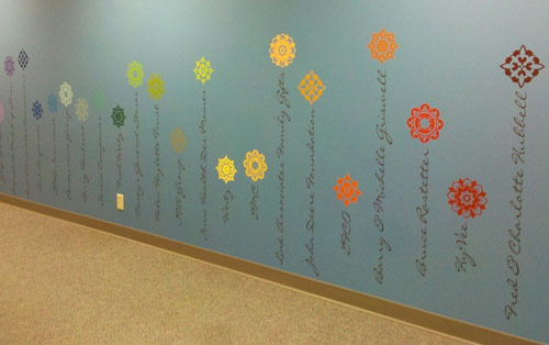 Floral Recognition Wall