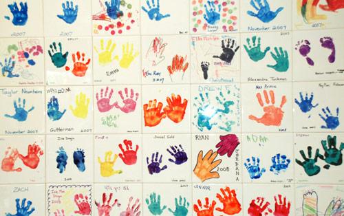 Handprint Wall